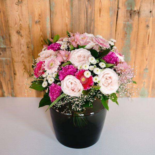 boeket met roze bloemen