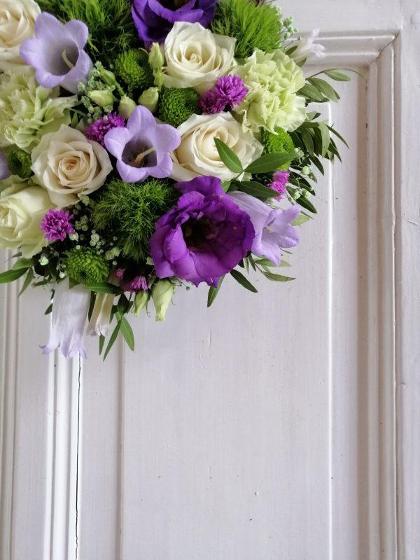 wit paars rouwwerk