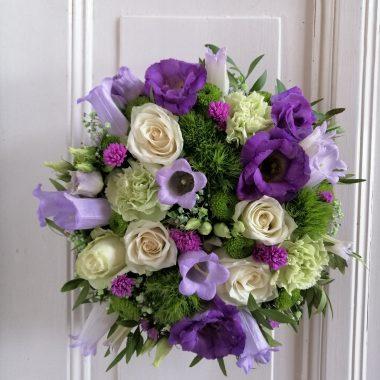 Rouwwerk wit-paars