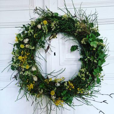 natuurlijke voorjaarskrans